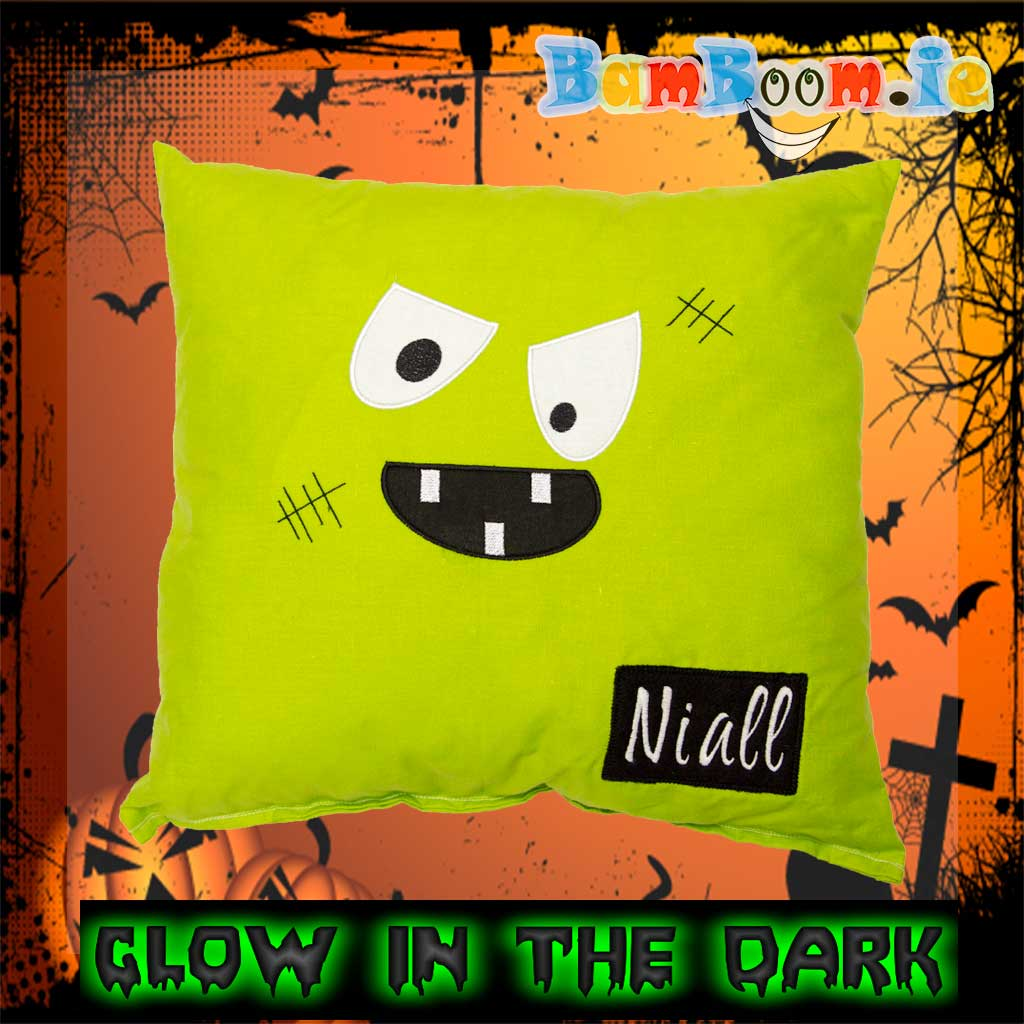 Personalised Green Monster Pillow
