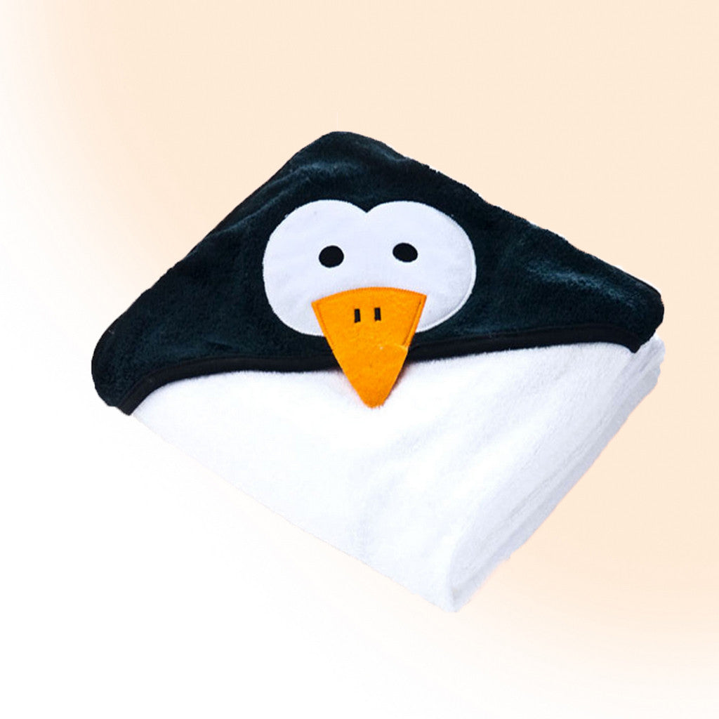 Large 3D bath towel - Funny Animals