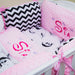 Personalised Baby Girl Cot Set