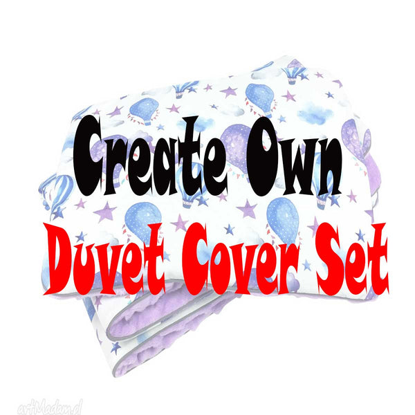 Create Own Personalised Baby Duvet Cover Set