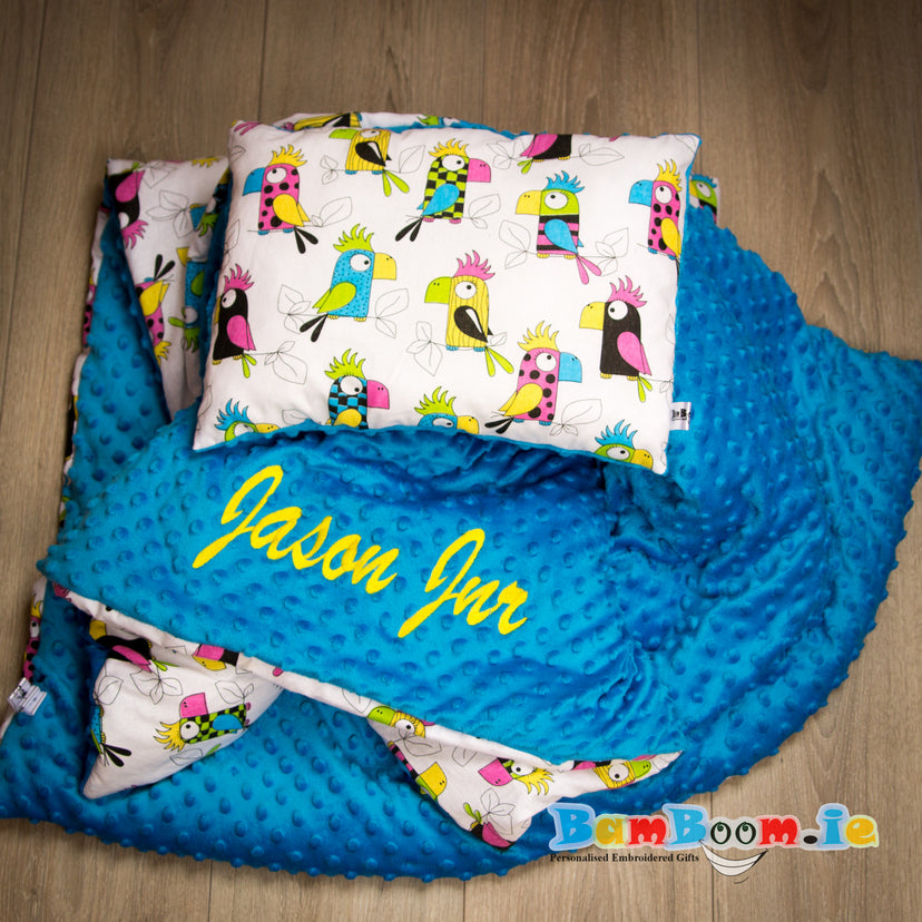 Personalised Baby Blankets Parrots