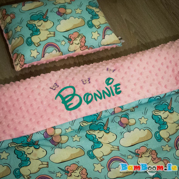 Personalised Blanket with Unicorns - 3 sizes