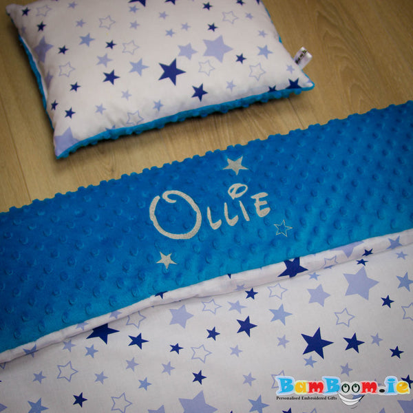 Blue Stars - Personalised Blanket Set