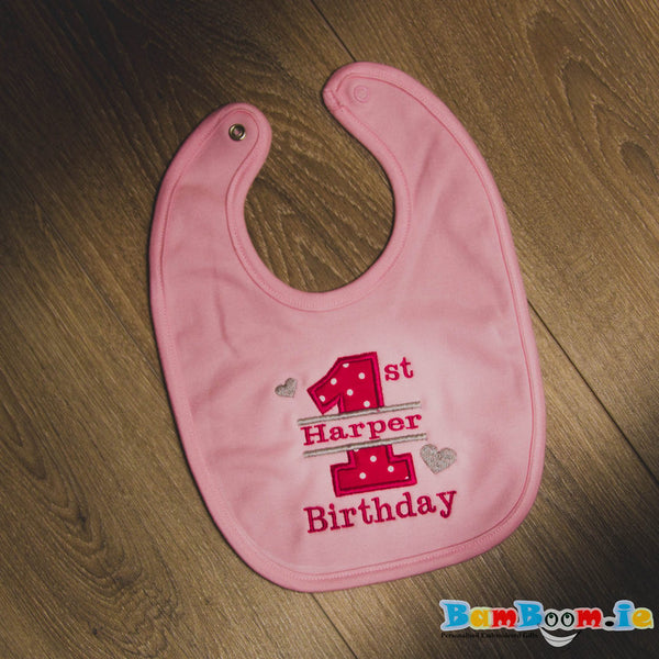 1st Birthday Personalised Bib