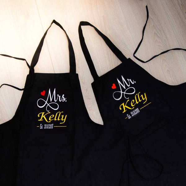 Personalised Mr&Mrs Apron