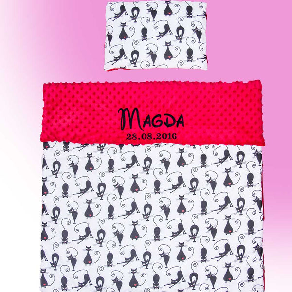 Personalised Blanket Set with Cats
