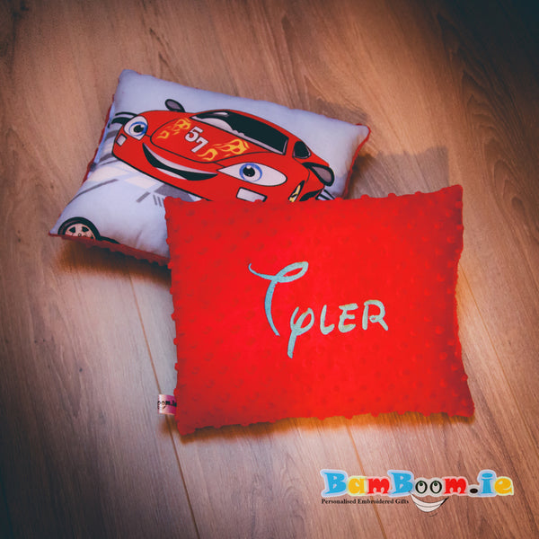 Personalised Pillow for Boy with Cars