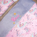 personalised baby girl blanket unicorns cork