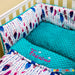 personalised cot set with feather