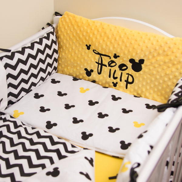 Personalised Baby Cot/Crib  Pillow Set - Create Own