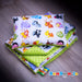 Baby blanket with animals like zebra, deer, elephant