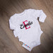 personalised monogram baby grow