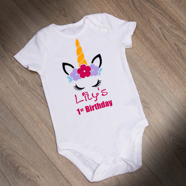 Personalised Baby Grow - UNICORN