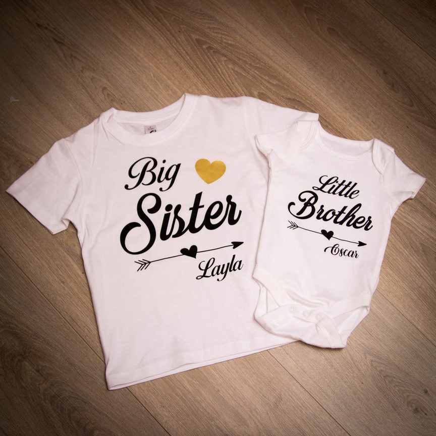 Personalised Matching T-Shirts or baby grows
