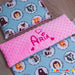 baby girl personalised blanket animals