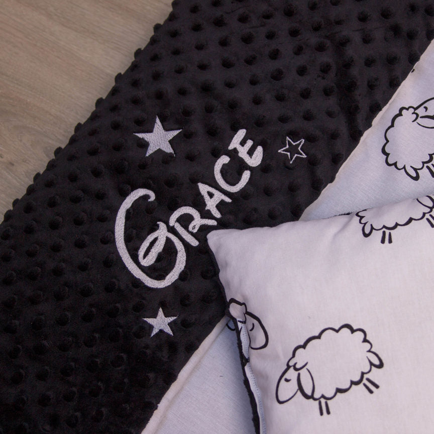 Personalised blanket with sheep