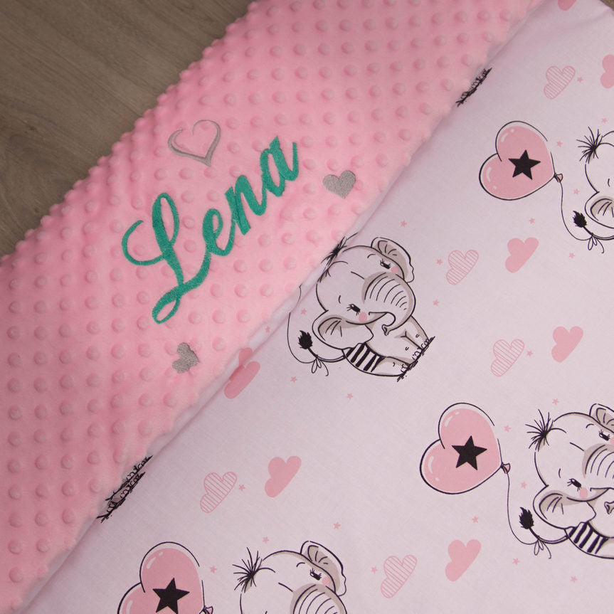 elephant personalised blanket