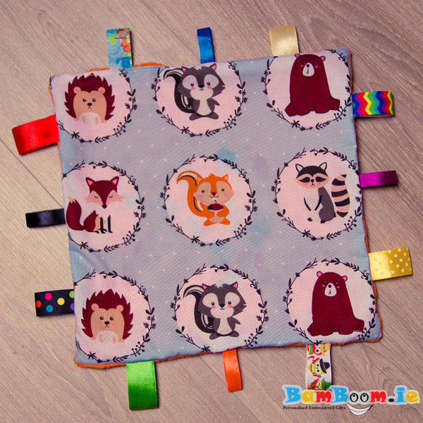 personalised comforter forest animlas