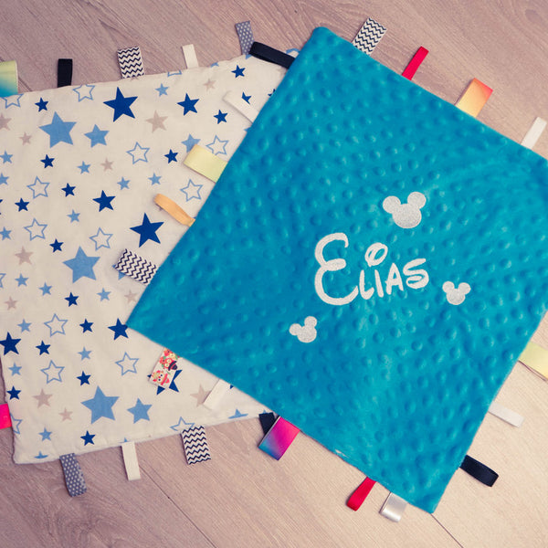 Personalised Baby Boy  Comforter - Stars
