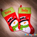 DELUX Personalised Christmas Stocking - Snowman