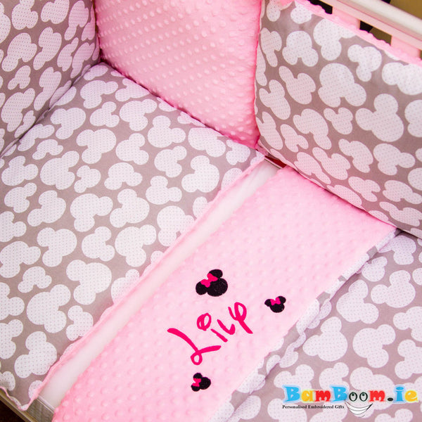 Personalised nursery cot set
