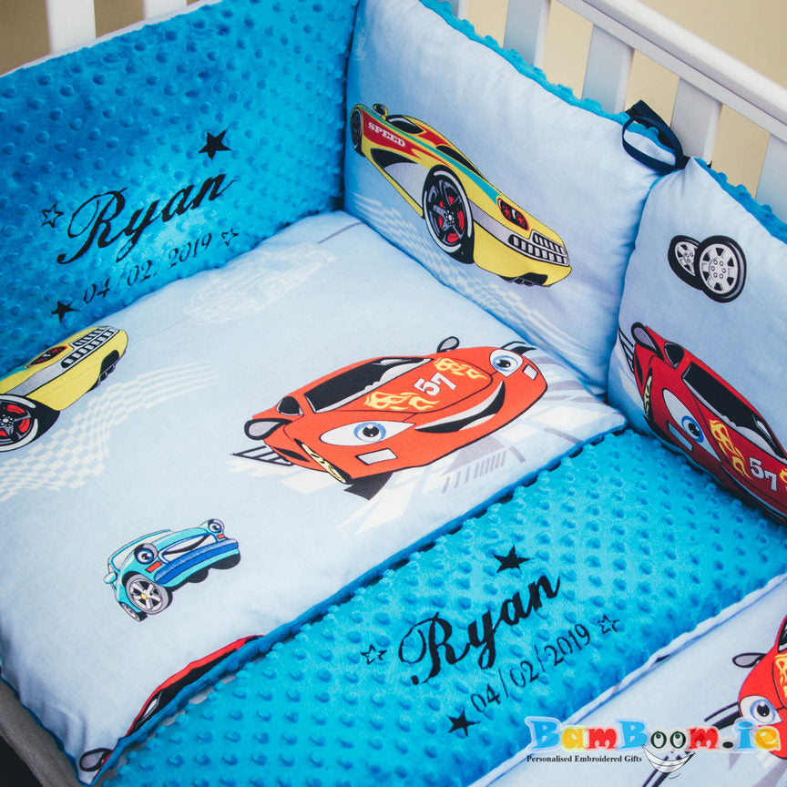 Baby Boy Cot/Crib Pillow Set with Cars
