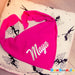 GLOW IN DARK baby bandana with name