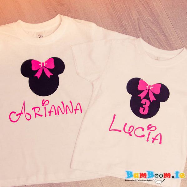 personalised matching T-shirts for sisters