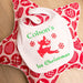personalised 1st christmas baby bib