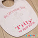 "Personalised Christening  Bib ""My Christening Day"" pink girl"