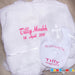 Personalised christetning set - bib and blanket