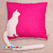 Cat Cushion with 3D tail