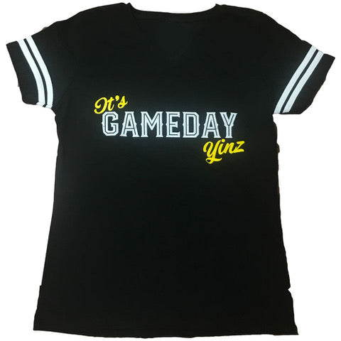 Womens It's Gameday Yinz V-neck Tee