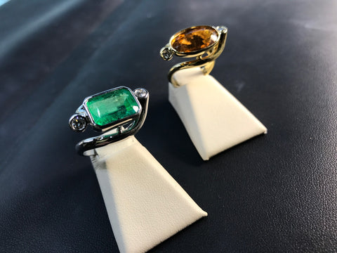 dancing rings emerald topaz secrete fine jewelry washington dc