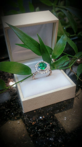 emerald halo engagement ring secrete fine jewelry washington dc