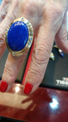 custom jewelry lapis ring yellow gold diamonds secrete dc handmade bethesda washington