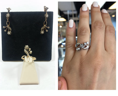 before and after vintage engagement custom ring remake secrete fine jewelry washington dc