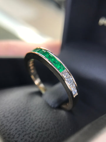emerald mens band wedding gay lgbt custom washington dc