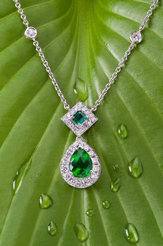 emerald pendant in two shades secrete fine jewlery bethesda md