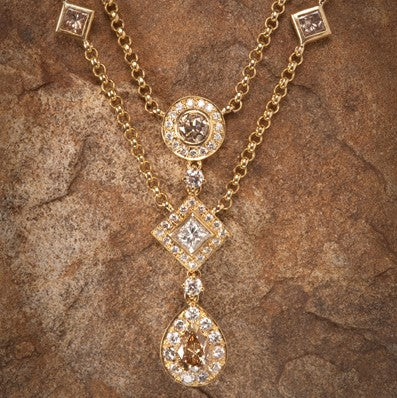 fancy champagne chocolate white diamond pendant secrete jewelry washington dc bethesda