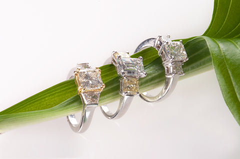 Custom Jewlery Washington DC Dupont Circle Engagement bridal best three stone diamonds flawless