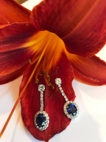 sapphire earrings diamonds secrete jewelry bethesda washington dc