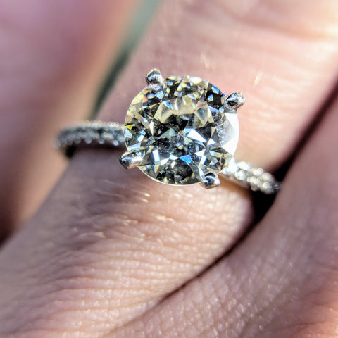 Custom engagement ring handmade Jewlery Bethesda Maryland Washington DC Dupont Circle bride Ring diamond