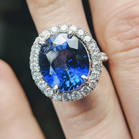 Custom Jewlery Washington DC Dupont Circle Engagement Ring sapphire Bethesda Unheated Ceylon
