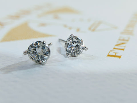 diamond stud earrings secrete fine jewelry washington dc