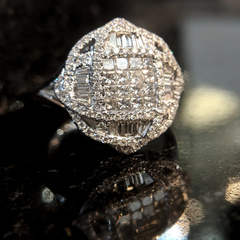 pave cluster woven engagement ring 2019 handmade white gold secrete fine jewelry best washington dc jeweler bridal bethesda