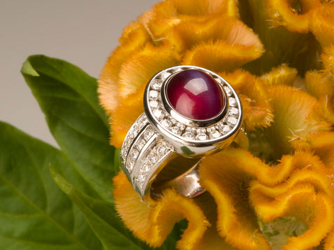 Custom Jewlery Washington DC Dupont Circle star ruby diamond ring