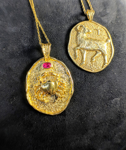 Custom Jewlery Bethesda Maryland Washington DC Dupont Circle secrete zodiac pendants aires cancer