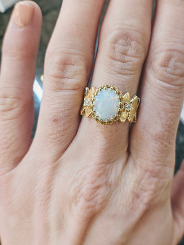 vintage opal engagement ring secrete fine jewelry