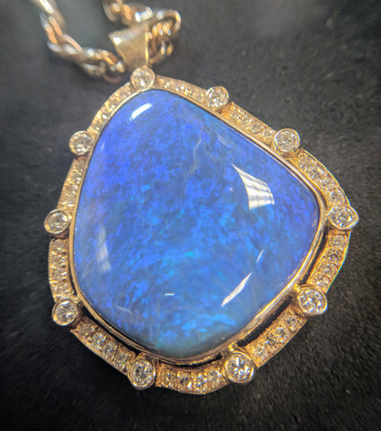 Custom Opal necklace secrete, Handmade Jewelry, Washington DC, Bethesda